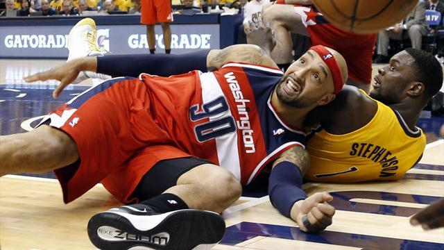 Basketball - Wizards draw first blood against Pacers in play-offs