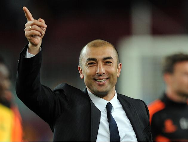 Chelsea's Italian Coach Roberto Di Matteo Celebrating AFP/Getty Images