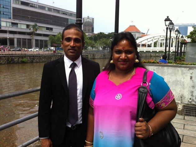 Hougang resident Vellama Marie Muthu was represented by lawyer M Ravi. (Yahoo! photo/ Andrew Loh)