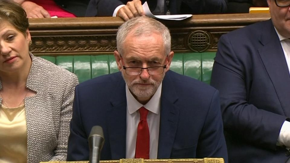 """Outgoing PM Cameron taunts Labour leader with """"Monty Python"""" jibe"""