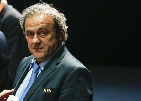 UEFA President Platini attends the 65th FIFA Congress in Zurich