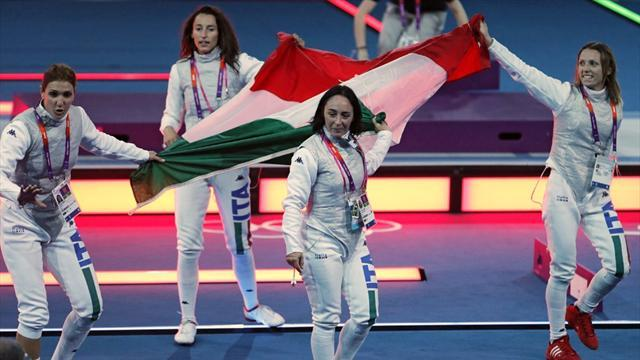 Italian women foilists dominate for Olympic gold