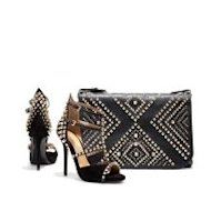 Matching studded pumps and handbag by Zara