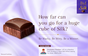 18 Of The Coolest Indian Social Media Campaigns Of Quarter 1 2013 image bidforsilk FB app
