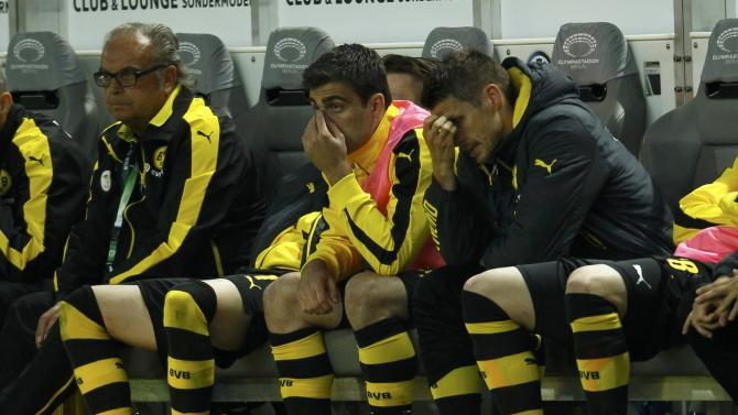 Borussia Dortmund's Kehl reacts after losing their German Cup (DFB Pokal) final soccer match against VfL Wolfsburg in Berlin