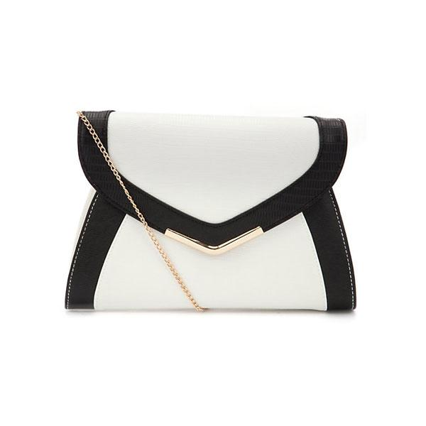 Monchrome Colour Block Clutch - £12.99 – New Look