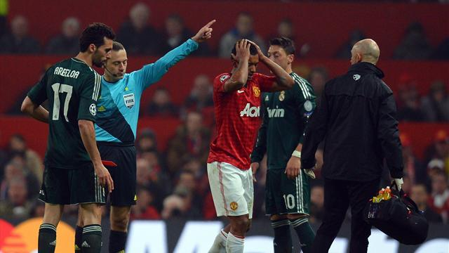 Champions League - Ref controversy as Madrid dump out 10-man United