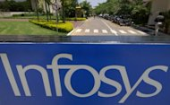 Indian software exporter Infosys posted a 27 percent rise in quarterly net profit on Friday, but a weaker than expected revenue outlook saw its shares tumble in early trade