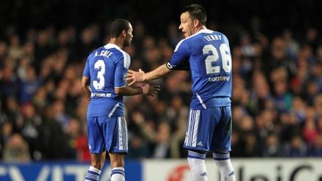 Terry and Cole back in Chelsea training