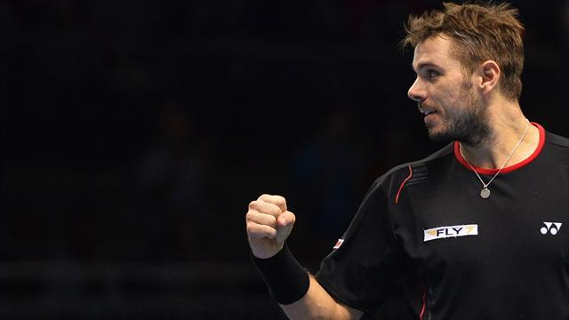 ATP World Tour Finals - Wawrinka through thanks to win over Ferrer
