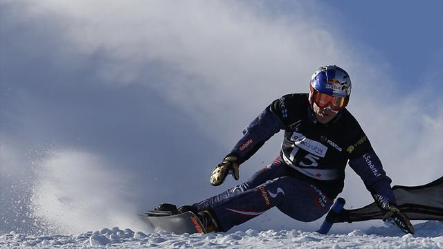 Snowboard - Benjamin wins parallel giant slalom gold at Worlds