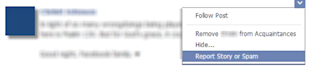 How To Report A Facebook Post in Your News Feed For Bad Behavior image facebook report content 1 550x120