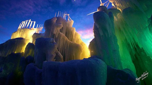 Artist Creates Amazing 25-Foot-Tall Ice Castles