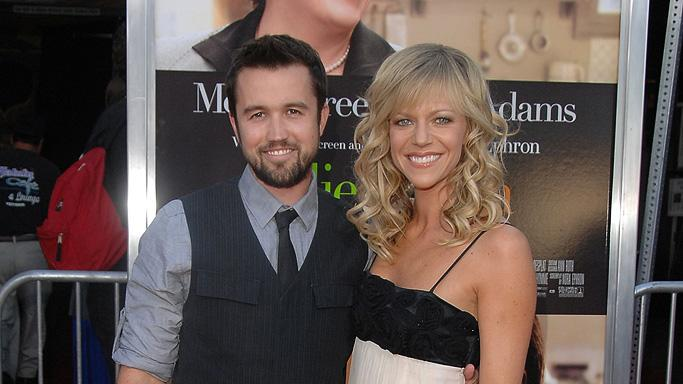 Julie and Julia LA premiere 2009 Rob McElhenney Kaitlin Olson