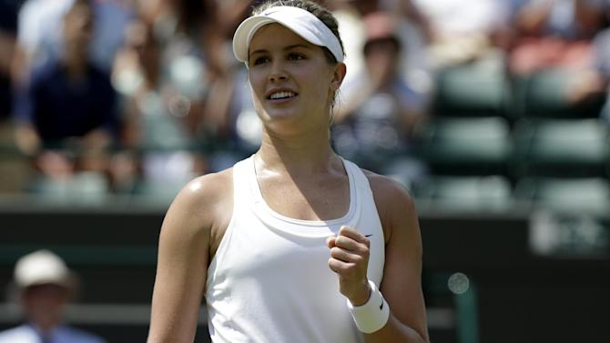 Wimbledon - Bouchard overpowers Kerber to reach semis