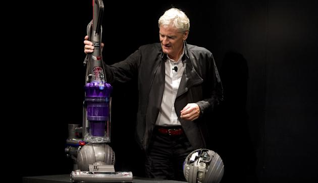COMMERCIAL IMAGE - In this photo taken by AP Images for Dyson, inventor James Dyson launches the Dyson DC41 Ball vacuum and the Dyson Hot heater fan on Wednesday, Sept., 14, 2011 in New York. Both machines are available in retail stores nationwide this week. (Rob Bennett/AP Images for Dyson)
