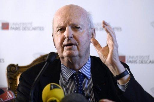 """Didier Sicard, honorary president of France's National Consultative Ethics Committee and chairman of the end-of-life presidential consultations mission, gives a press conference on December 18, 2012 in Paris. France's medical ethics council said Thursday that euthanasia should be allowed in exceptional cases and when suffering patients make """"persistent and lucid requests."""""""