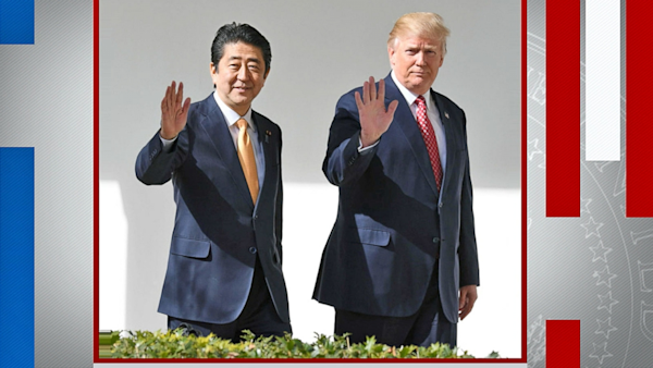 Good Morning In Japanese Yahoo : Donald trump meets with japanese prime minister watch