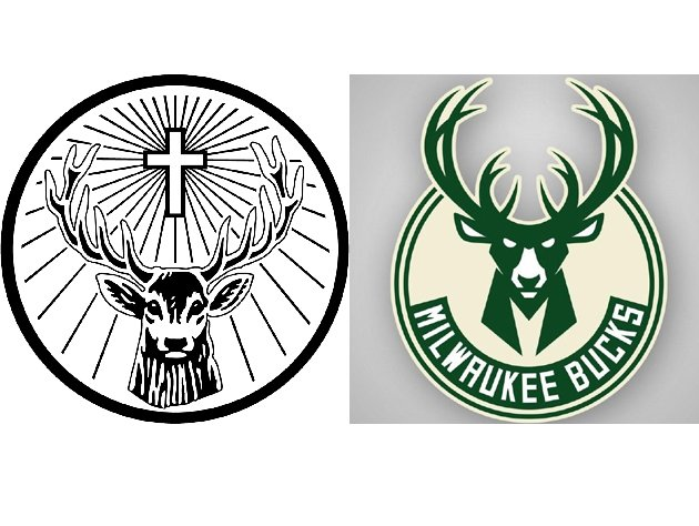 The Jagermeister logo is on the right. We think.