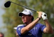 Rory McIlroy of Northern Ireland plays a shot during the first round of the DP World Tour Championship in Dubai on November 22. McIlroy was left at six-under par 66 and tied for second with Spain's Gonzalo Fernandez-Castano and Scotland's Marc Warren after the opening round of the $8million DP World Tour Championship