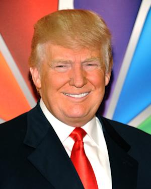 """FILE - In a Monday, May 14, 2012 file photo, """"Celebrity Apprentice"""" host Donald Trump arrives for the NBC network upfront presentation at Radio City Music Hall,in New York. The series, which on Monday starts shooting this new season for a March 2013 premiere, announced its slate of 14 contenders Friday morning, Oct. 12, 2012. (AP Photo/Evan Agostini, File)"""