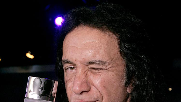 "Gene Simmons Launches ""Kiss"" Perfume at Pure Nightclub."