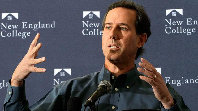 Rick Santorum Gets Booed After Back-and-Forth on Same-Sex Marriage at New Hampshire College Event