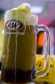 A&W Vanilla Float Drink