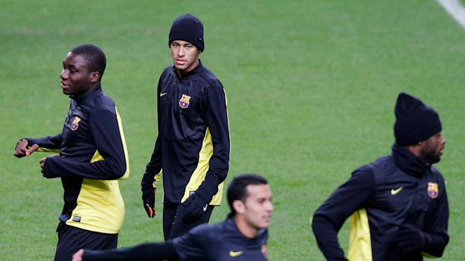 FC Barcelona Training Session - UEFA Champions League