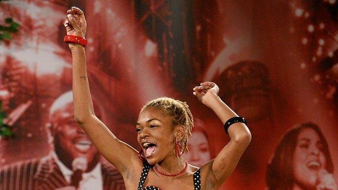 Atlanta Audition: Eva Miller, 26, performs in front of the judges on the 7th season of American Idol.