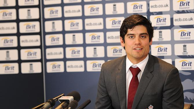 England Cricket Team Media Conference at Heathrow Airport