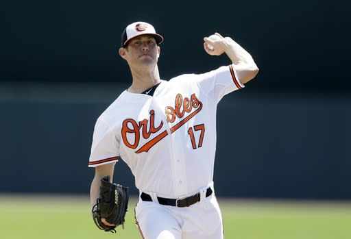 Orioles reliever leaves game after umps inspect his forearm