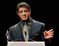 "Sylvester Stallone, pictured at an event in Las Vegas last month, played the hero in the 1981 US film ""Escape to Victory"", based on the story of Soviet footballers who defied the Nazis"