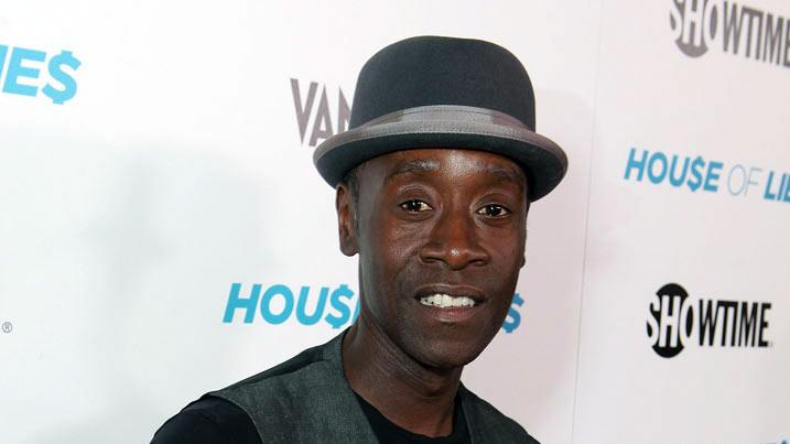 "Don Cheadle arrives at the premiere party for Showtime's new series ""House of Lies&quot held at the AT&T Center Theatre on January 4, 2012 in Los Angeles, California."