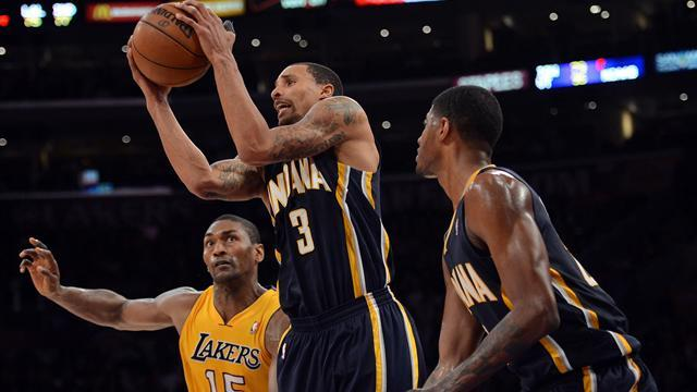 NBA - Pacers snatch win over Lakers in LA