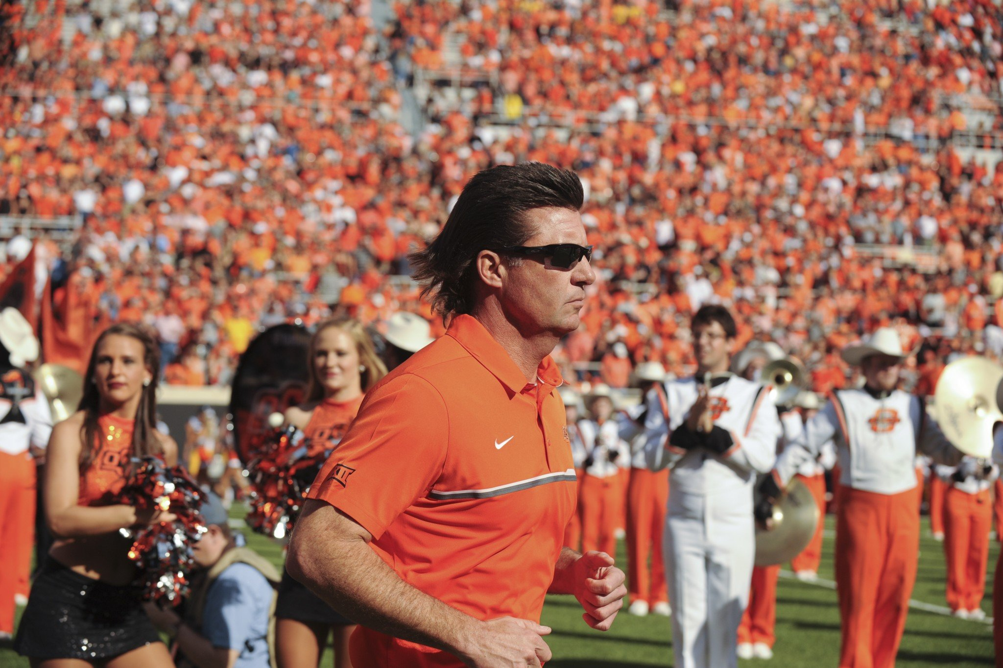 Oklahoma State is well on its way to its 7th straight win vs. TCU. (AP Photo/Brody Schmidt)