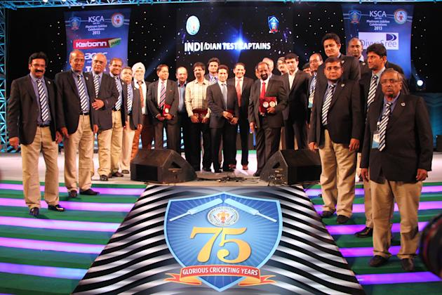 KSCA platinum jubilee celebrations at the M. Chinnaswamy Stadium