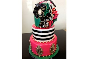 Crazy Colorful Wedding Cake