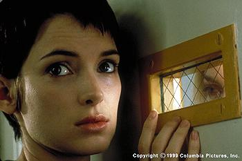 The Columbia Pictures presentation GIRL, INTERRUPTED (12/99) is the true story of Susanna Kaysen (two-time Oscar® nominee Winona Ryder , left), a patient in a mental institution who ultimately has to choose between the world of people who belong on the inside