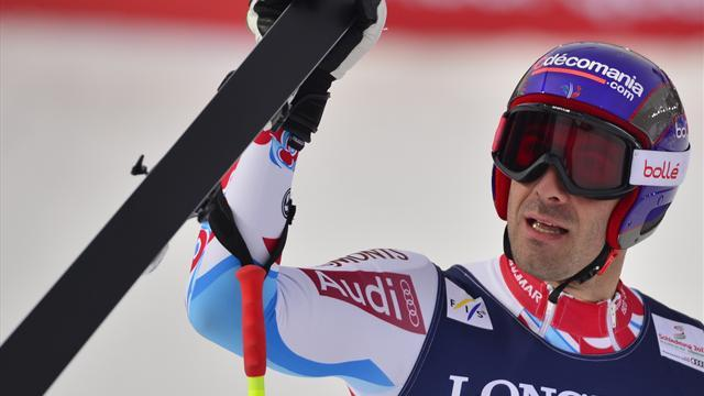 Alpine Skiing - Theaux triumphs in Kvitfjell downhill