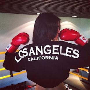 Get a Kardashian bikini body with a boxing celebrity workout
