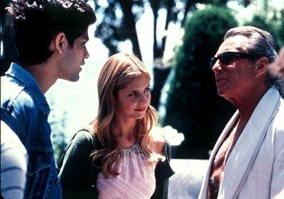 Adrian Grenier , Sarah Michelle Gellar and Gianni Russo in Cowboy's Harvard Man