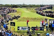 Rory McIlroy of Northern Ireland plays from the 5th tee at the British Open Golf Championship. For the second year in a row, McIlroy limped away from the British Open with his head bent low after he failed to make any impression in Sunday's final round at Royal Lytham