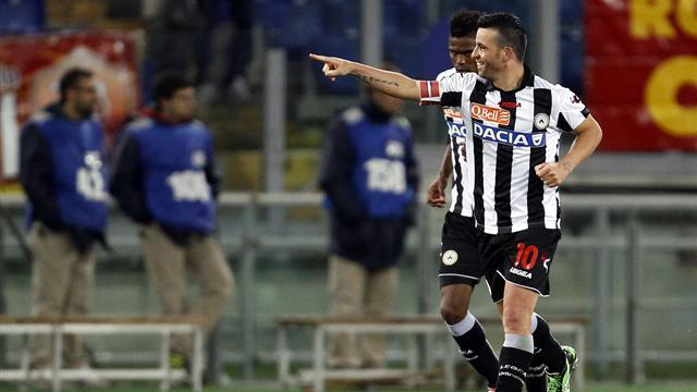 Serie A - Di Natale hat-trick earns point for Udinese