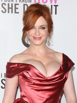 Christina Hendricks's Mega-Watt Cleavage