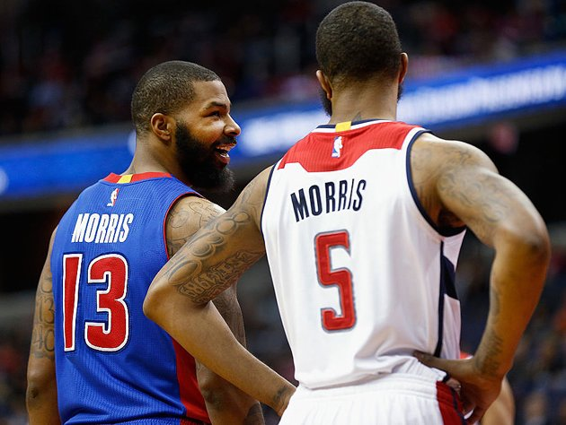 The Morris twins, Marcus and Markieff, in the paint. (Getty Images)