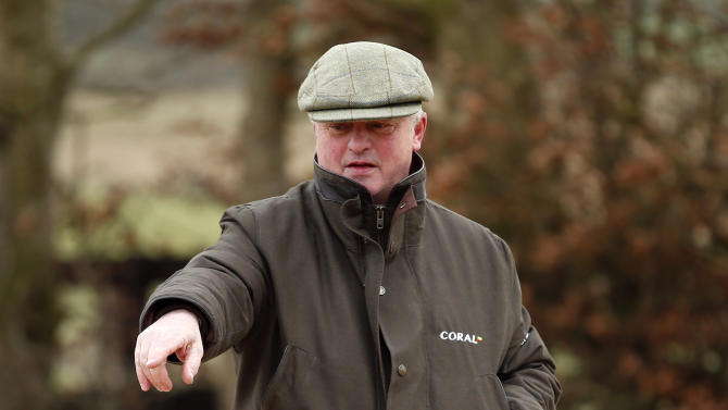 Trainer Colin Tizzard during the stable visit