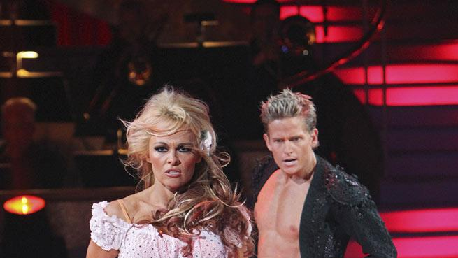 """Damian Whitewood and Pamela Anderson on """"Dancing with the Stars."""""""
