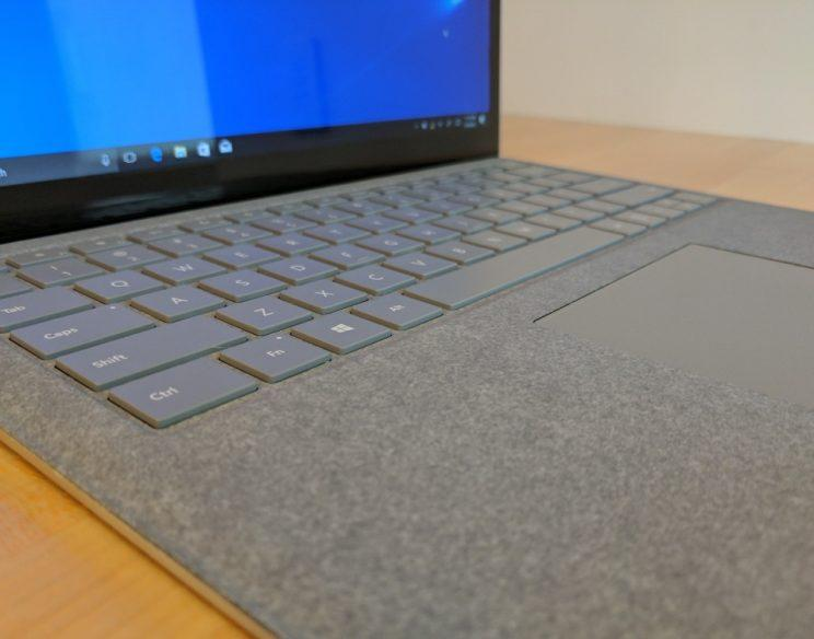 Microsoft's Surface Laptop sports Alcantara.
