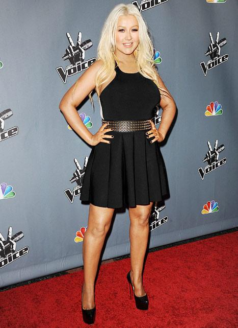 Christina Aguilera Debuts Major Weight Loss, Fresh-Faced Makeover at Voice Event